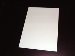 foto de un folio blanco