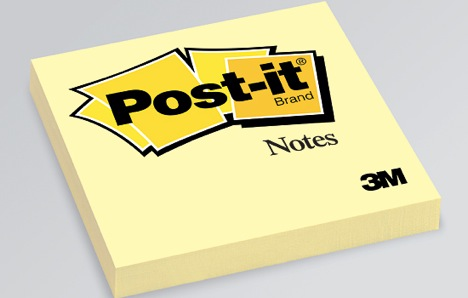 notas adhesivas, posit, post-it, notas
