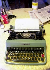 una bonita maquina de escribir