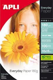 100 hojas de papel fotografico