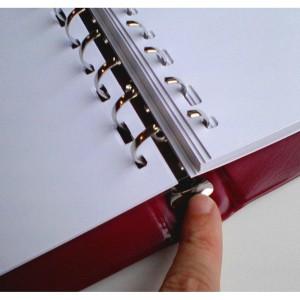 Libro de actas con hojas para impresora