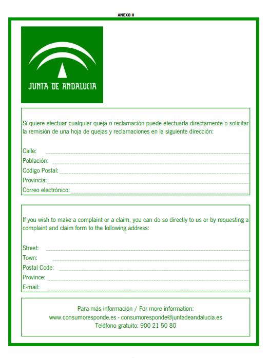 CARTEL DE DATOS DE RECLAMACIONES