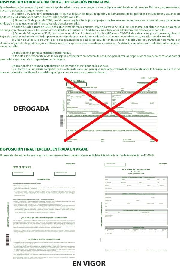 Revisa tus libros de reclamaciones en vigor junta andaluza
